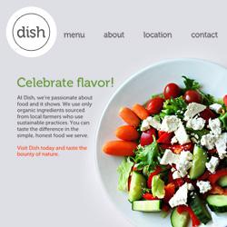 Dish Restaurant website